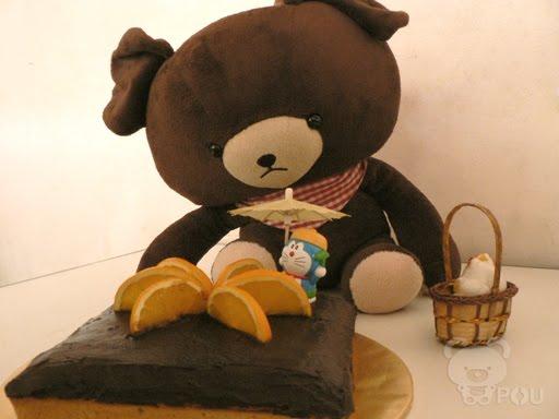 柳橙优格巧克力蛋糕