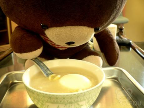 腐竹薏米白果鸡蛋糖水