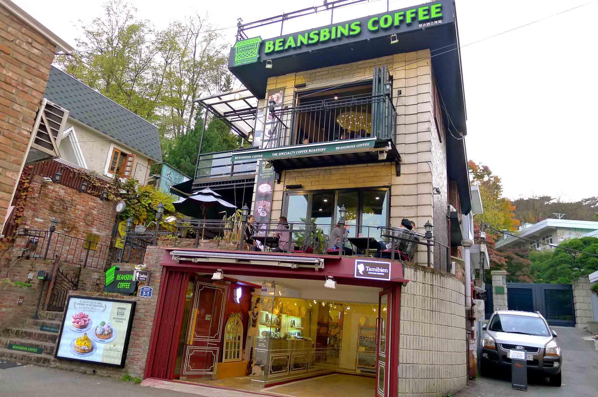 (Seoul) 首尔的秋天~BeansBins Coffee下午茶
