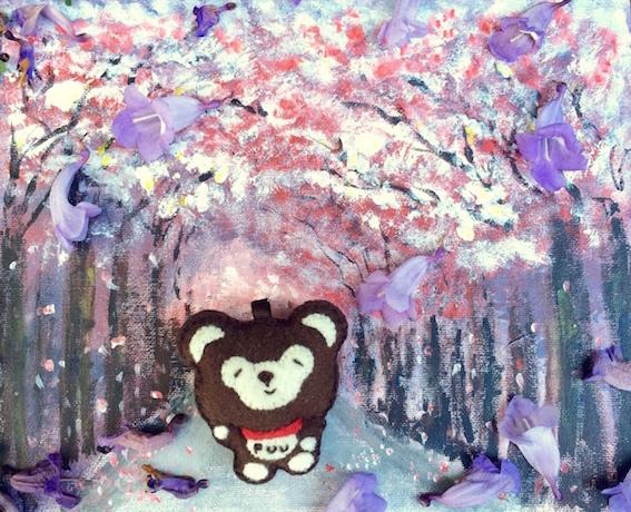 花朵们,你不能来我的世界找我,我就去花花世界找你。Arcylic Paint, Flower blossom