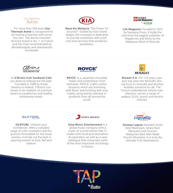TAP by Seeties - 一个让你接触各大品牌活动和邀稿机会的平台!