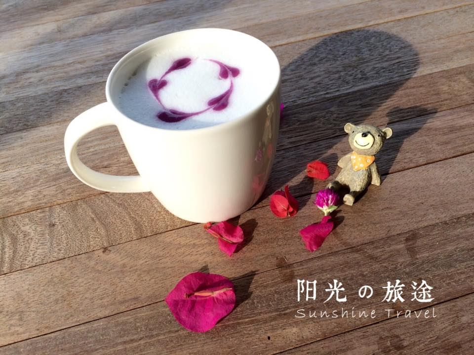 薰衣草花语: 紫番薯latte  Sweet Potato Latte