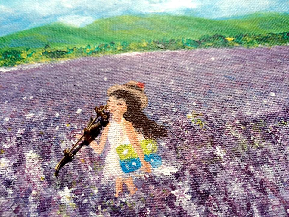 薰衣草花语: 只要用力呼吸,就会看见奇迹 Lavender Painting
